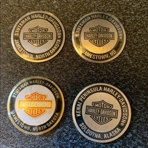 Harley-Davidson Metal Decals with 3M backing